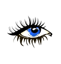 Eye sketch in fashion style on white vector