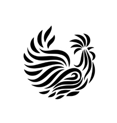 Fire Rooster logo vector image
