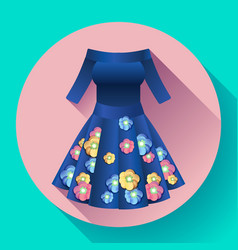 flower dress icon vector image