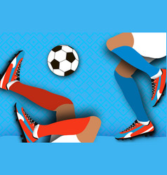 football player in paper cut style origami sport vector image