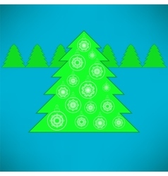 Green Tree and Balls vector