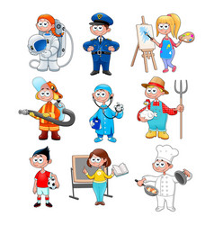 Group workers for children vector
