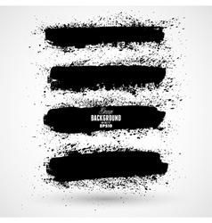 Grunge banner backgrounds in black color vector