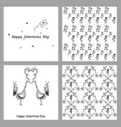 Hand drawn wedding ornaments abstract icon set vector