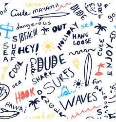 hand writing words pattern seamless vector image