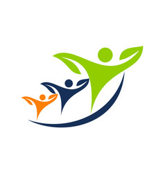 health life logo design template vector image