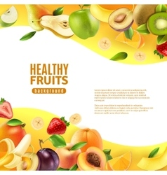 Healthy Fruits Background Banner vector