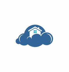 home cloud logo vector image
