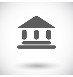 Home flat icon 2 vector image