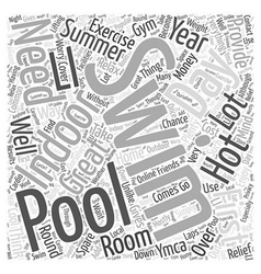 Indoor Swimming Pools Word Cloud Concept vector