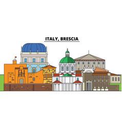 Italy brescia city skyline architecture vector