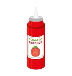 ketchup tomato sauce food vector image