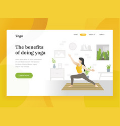 landing page template of home yoga vector image