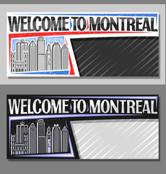 layouts for montreal vector image