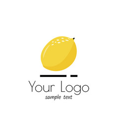 Logo with lemon simple sign for market vector