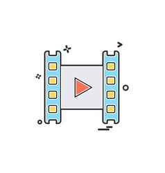 media player icon design vector image