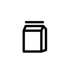 milk box icon vector image