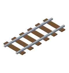 Miner railroad icon isometric style vector
