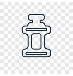 mouthwash concept linear icon isolated on vector image