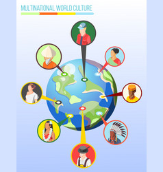 multinational world culture design concept vector image