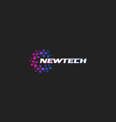 newtech logo abstract logotype new vector image
