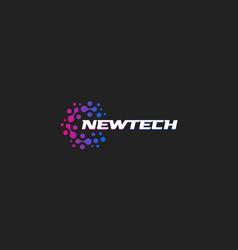 Newtech logo abstract logotype new vector