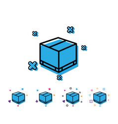 Parcel box line icon logistics delivery sign vector