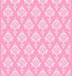 Pink damask pattern vector