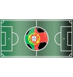 Portugal football field vector