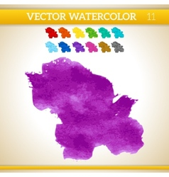 Purple and Violet Watercolor Artistic Splash for vector