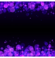 Purple shining bokeh frame abstract background vector image