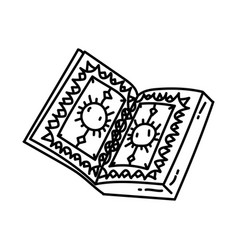 quran icon doodle hand drawn or outline icon style vector image