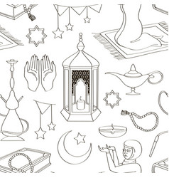 ramadan muslims holy month pattern vector image