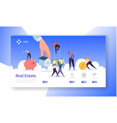 Real estate landing page investment in property vector