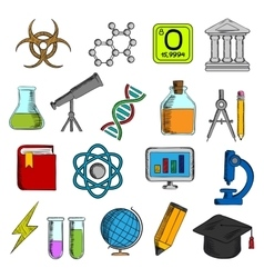 Science and education icons set vector