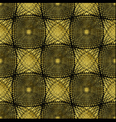 seamless gold abstract geometric pattern vector image