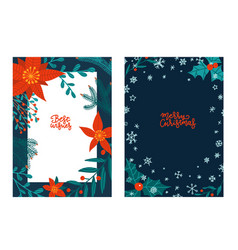 set greeting hand drawn lettering cards vector image
