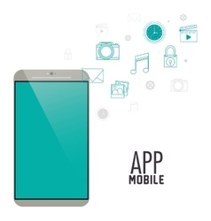Smartphone mobile and media app design vector image