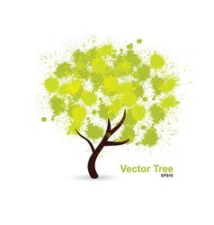 splotch tree vector image