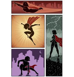super heroine banners 3 vector image