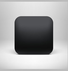 Technology Black Blank App Icon Template vector