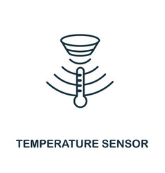 Temperature sensor outline icon thin line style vector