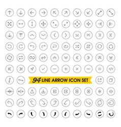thin line arrow icons set vector image