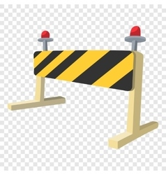 Traffic barrier cartoon icon vector