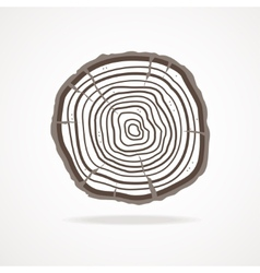 Tree rings Flat Design vector