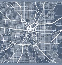 Urban city map san antonio poster grayscale vector