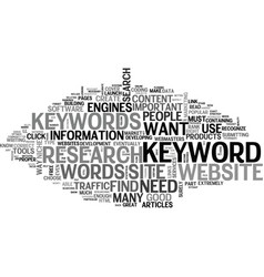 What keywords do i need and how do i find them vector