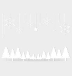 White gray christmas day paper postcard snowflake vector