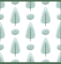 winter forest cute frozen seamless pattern with vector image