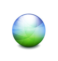 World green and blue ball vector
